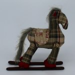 GREEN PLAID ROCKING HORSE