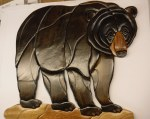 BLACK BEAR WALL HANGING