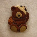 WINTER TEDDY BEAR MAGNET