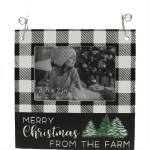 WOODEN PICTURE FRAME WITH MERRY CHRISTMAS