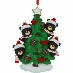 BEARS ON TREE FAMILY OF 4