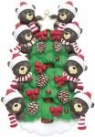 BEARS ON TREE FAMILY OF 8