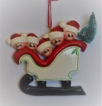 ELVES IN SLEIGH FAMILY OF 5