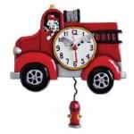 BIG RED PENDULM CLOCK