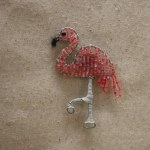 BEADED FLAMINGO MAGNET