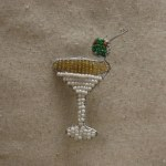 BEADED MARTINI MAGNET