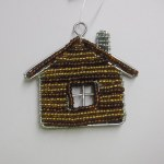 BEADED LOG CABIN