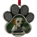 PAW PRINT PICTURE FRAME  ALWAYS REMEMBERED