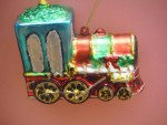GLASS TOY TRAIN