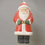CARVED WOODEN SANTA