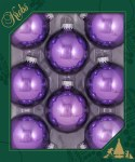 AMETHYST SHINE GLASS BALLS 8PK