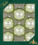 PALE VISTA GLASS BALL SET OF 8