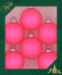 SHOCKING PINK GLASS BALL SET OF 6
