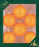OUTRAGEOUS ORANGE GLASS BALLS 6 PK