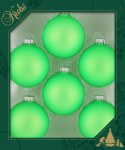 EXTREME GREEN 6PC GLASS BALL SET