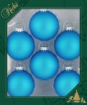 INTENSE BLUE GLASS BALLS 6 PK