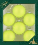 OH MY GOD YELLOW GLASS BALLS 6PK