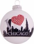 CHICAGO SKYLINE GLASS BALL