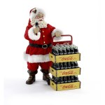 COKE SANTA WITH CASES OF COKE 2 PC