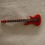 RED BASS GUITAR MAGNET