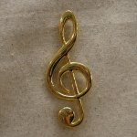 GOLD MUSIC NOTE MAGNET