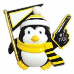 #1 FAN PENGUIN IN BLACK AND YELLOW