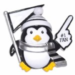 #1 FAN PENGUIN IN BLACK AND SILVER