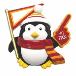 #1 FAN PENGUIN IN ORANGE AND RED