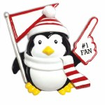 #1 FAN PENGUIN IN RED AND WHITE