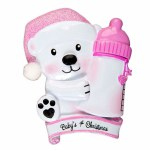 BABY'S 1ST CHRISTMAS PINK