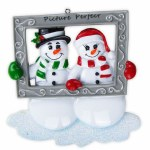 SNOWMAN IN PICTURE FRAME