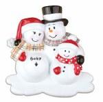 FAMILY OF 3 SNOWMAN FAMILY MATERNITY