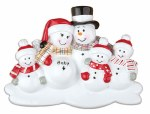 FAMILY OF 5 SNOWMEN