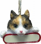 CALICO CAT WITH PLAQUE