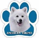 AMERICAN ESKIMO CAR MAGNET
