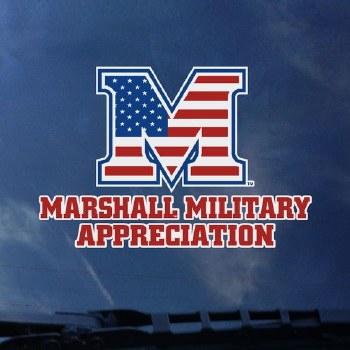 Marshall Military Appreciation Decal