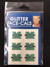 Glitter Face Decal 6 Pk