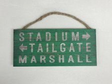 Marshall Pallet Stadium Sign