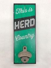 Herd Country Wall Mount Bottle Opener