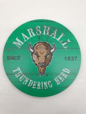 "Marshall Circle Wood Wall Mount 12"" x 12"""