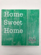 "Marshall Home Sweet Home Wood Square 10"" x 10"""