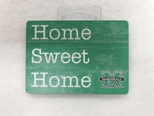 "Marshall Home Sweet Home Wood Magnet 2.5"" x 3.5"""