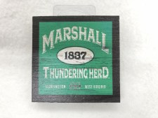 "Marshall Wood Magnet 3"" x 3"""