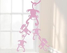 PINK MONKEY CEILING SCULPTURE