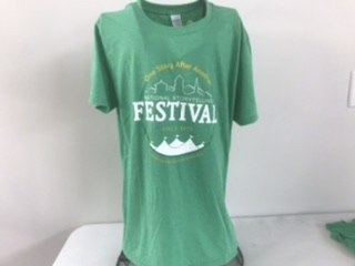 One Story SS Green Tee XL