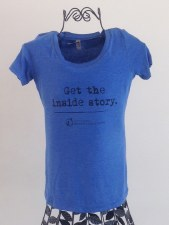 Get the Inside Story SS Tee Blue