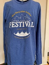 One Story LS Tee Blue S