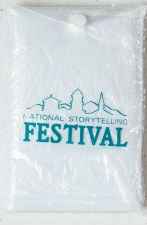 Rain Poncho with National Storytelling Festival logo