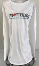 Long Sleeve White Tee L
