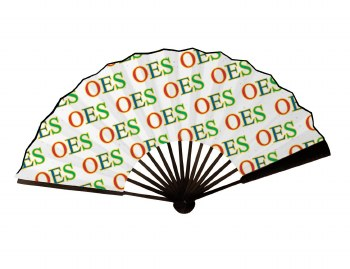 Order of the Eastern Star Wooden Handle Fan
